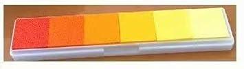 Degradado Naranja 1 piezas Sello de estampado en degradado Sello DIY Sello lavable Almohadilla de tinta de huellas dactilares para sellos de goma Papel de /álbum de recortes