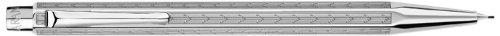 Caran D' Ache Chevron Ecridor Silver Plated/Rhodium Coat Chevron 0.7mm Pencil, Large Engraving Space (0004.276) by Caran d'Ache
