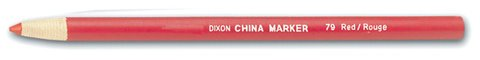 Dixon Peel-Off China Marker, Red, 72-Count (79) by Dixon