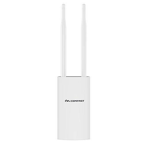 Outdoor WiFi Range Extender, Comfast High Power 300Mbps 2.4GHz Wi-Fi Signal Booster, AP Repeater/Wireless Access Point/Router Extending WiFi to Whole Home and Garden (Best Outdoor Wifi Range Extender)