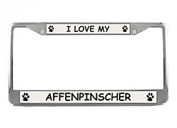 Affenpinscher License Plate Frame (Chrome) 5 Year Warranty