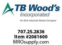 Pack of 3 TBWOODS 707.25.2836 MULTI-BEAM 25 8MM-1//2