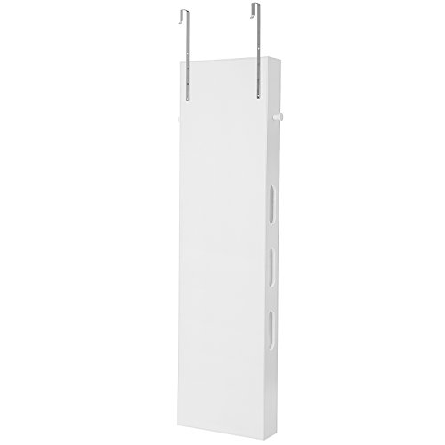 SONGMICS Bathroom Storage Cabinet, Door/Wall Mounted Save Floor Space, Adjustable Shelves White UBBC74WT by SONGMICS (Image #7)