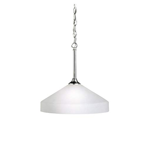 Pendants 1 Light Fixtures with Brushed Nickel Finish Medium Bulb Type 15