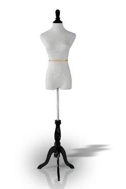 White Female Mannequin Dress /& Slacks Form Made By OM Tripod Base Black 35chest 24waist 33hips S