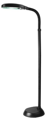 Floor Shade Acrylic Lamp (Lite Source LSP-801BLK Aptos Floor Lamp with Black Acrylic Shade, 52