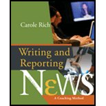 Writing and Reporting News, Carole Rich, Chris Harper, 0495166294