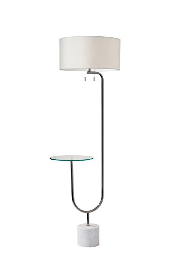 Adesso Shelf - Adesso 5426-22 Sloan Shelf Floor Lamp, Polished Nickel