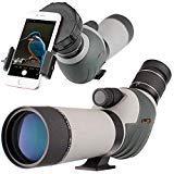 20-60x62 Zoom Waterproof Spotting Scope - HD 24mm BAK4 45-Degree Angled Big Eyepiece
