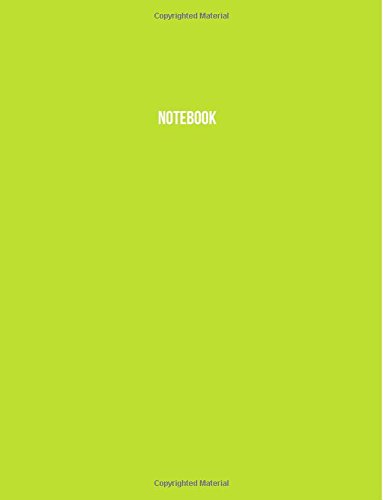 Notebook: Acid Lime Green, Ruled, Soft Cover, Letter Size (8.5 x 11) Notebook