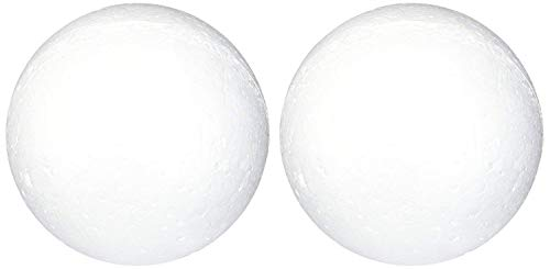 Goldenvalueable Smooth Foam Balls Craft Supplies, 6-Inch, White, 2-Pack -