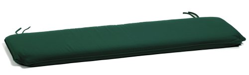 Oxford Garden 5-Foot Bench Cushion, Hunter Green
