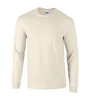 Gildan Ultra Cotton 6 oz. Long-Sleeve T-Shirt, 3XL, NATURAL ()