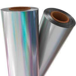 Silver Holographic Laminating/Toner Fusing Foil (8