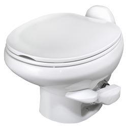 Aqua Magic Style II RV Toilet with Hand Sprayer  / Low Profile / White - Thetford (China Toilet Seat)