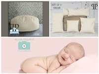 STARTER SET #8 ~ Travel size Posey Pillow and Set of 5 Posey positioners ~ NEWBORN PHOTO PROP by Posey Pillow
