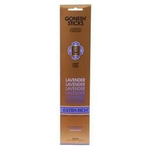 Gonesh Incense Sticks Extra Rich Collection - Lavender 5 Packs (100 Total)