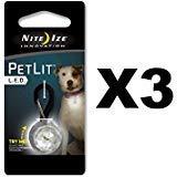 (Nite Ize PCL02-03-02JE White Stylish LED Collar Light)