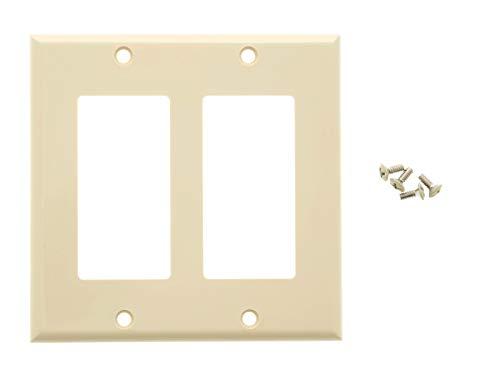 Networx Wall Plates (Dual Gang, Ivory) ()