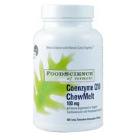 FoodScience of Vermont- EZ CoQ10, Heart Health Supplement, 60 Chewable (Heart Science 60 Tablets)