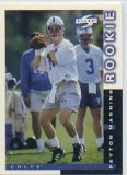 1998 Peyton Manning Indianapolis Colts Score NFL Football Mint Rookie Card in Protective Display Case