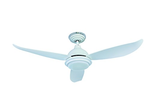 """Low Energy 48"""" 122cm Ceiling Fan Pepeo Raja White with dimmable LED Light..."""