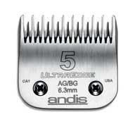 Andis UltraEdge Hair Clipper Blade Size 5 Skip Tooth (Ultraedge Blades)