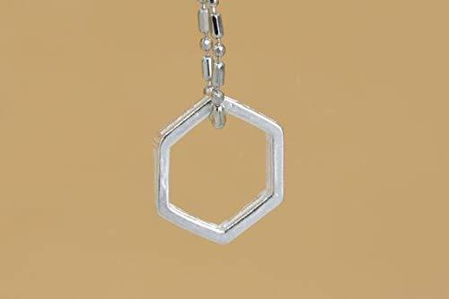 11x11MM Sterling Silver Hexagon Charm 1 Pcs #YBL/_18161 61562