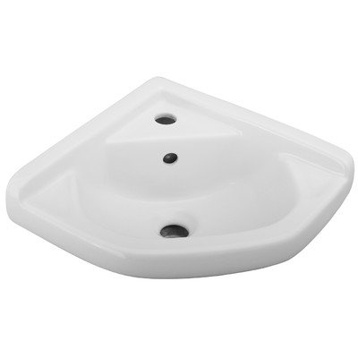 Barclay 4-750WH 14-Inch Corner Wall-Hung Basin, White (4 Vessel Sink)