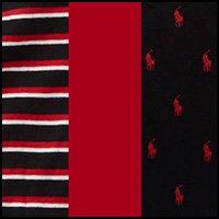 Polo Ralph Lauren Men's 3-Pack Multi Boxer Briefs Black/Rl2000 Red&Black Multi Stripe/Rl2000 Red&Rl2000 Red/Black Large by Polo Ralph Lauren (Image #1)