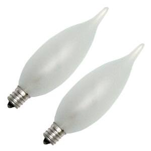 GE 25 Watt 2-Pack Bent Tip Frosted Candelabra Bulb