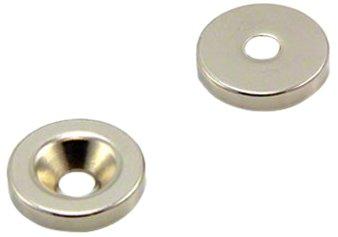 Magnet Expert® 20mm diamètre x 4mm x 5,2mm fraiser néodyme aimant, 6,7kg force d'adhérence, Sud, pack de 2 2mm fraiser néodyme aimant 7kg force d'adhérence Magnet Expert® F315S-2