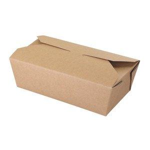 Deli Supplies 250 x Kraft Oriental Food Box Flat Deli Takeaway Noodles Curries Rice Pasta delisupplies