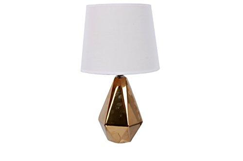 DEI Gold Faceted Diamond Base lamp Tall (Lamp Base Gold)