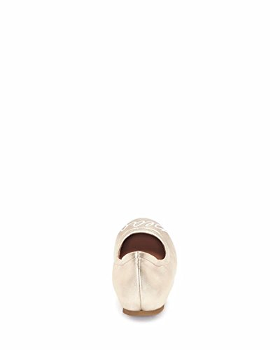 Ed Ellen Womens Langston Leather Ballerine A Punta Chiusa Proseco Metallic Soft