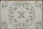 Soho Medallion Vines Oriental White & Lady Grey Rectangle Polished - 32'' x 48'' by Buy My Tile