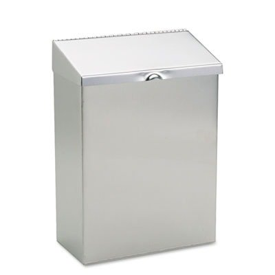 HOSND1E Wall Mount Sanitary Napkin Receptacle, 8 x 4 x 11, Stainless Steel