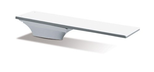 - S.R. Smith 68-209-7382 Flyte-Deck II Stand with 8-Foot Fibre Dive Diving Board, White