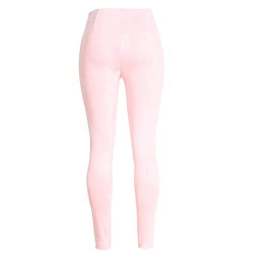 Donna Doppio Unita Anni Pantalone Moderno Elasticizzato 20 Alta Tinta Elasticizzati Pink Skinny Matita Petto Vita Jeans A Casual Pantaloni 4tdwqpq