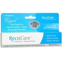 RectiCare Anorectal Cream, 30 grams (Pack of 4) by Recticare by Recticare