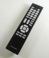 Mitsubishi Remote Control, Part Number: - Mitsubishi Tv Remote