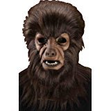 Forum Novelties Men's Universal Monster Collector's Edition The Wolf Man Mask, Brown, One Size - Brown Wolf Vinyl Mask
