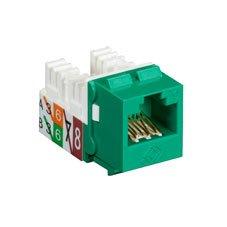 (GigaTrue2 CAT6 Jacks, Universal Wiring, Component Level, 25-Pack, Green)