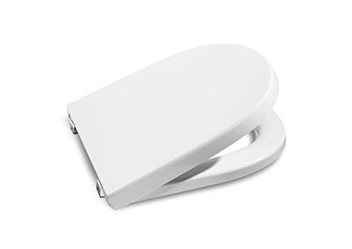 Blanco Roca A801232004 Tapa y Asiento para Inodoro con ca/ída amortiguada