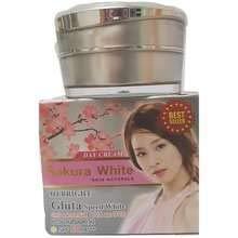Sakura White Gluta speed Whitening sun protection UVA UVB SPF 50 PA ++ 15 g. Silk Sunscreen