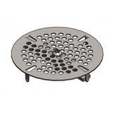 T&S Brass 3-7/16 in. Stainless Steel Vandal Resistant Lock Strainer for Waste Drain