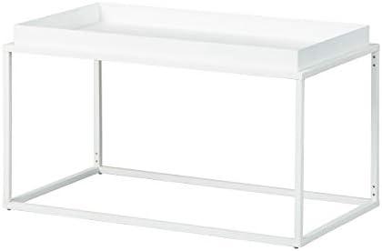 Voorafgaande Bestelling Inter Link Design salontafel in industriële stijl metaal wit geschikt voor binnen en buiten ECha6SW