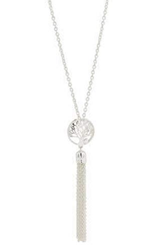 DaVinci Tassel Tree Life Pendant Stackable Necklace - Memories Beads Jewelry