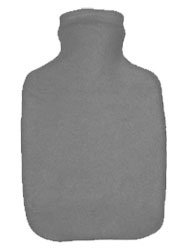 Warm Tradition Heather Gray Fleece Covered Hot Water Bottle