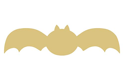Bat Cutout Unfinished Wood Halloween Decor Zoo Animal Decorations Door Hanger MDF Shape Canvas Style 2 -